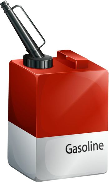 A gasoline container