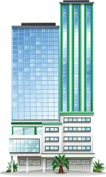 A tall commercial building