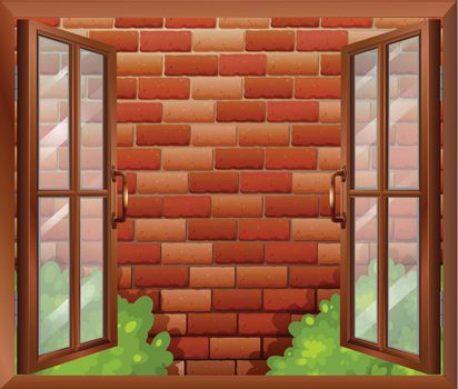 A window and the tall stonewall