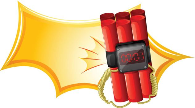 An explosive weapon with a timer