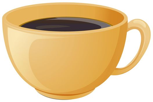 A cup of brewed coffee