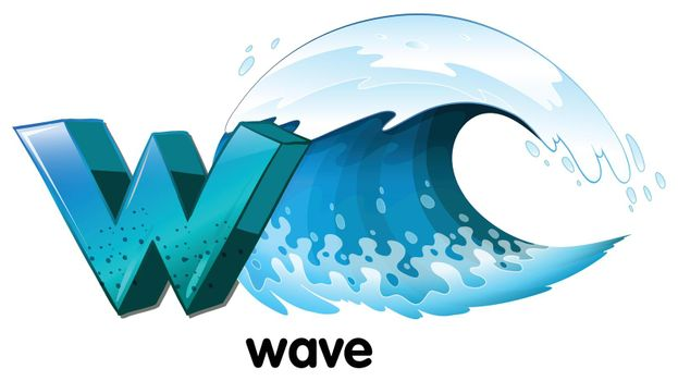 A letter W for wave