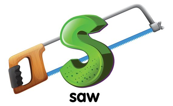 A letter S for saw