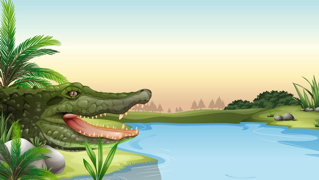 A reptile at the river