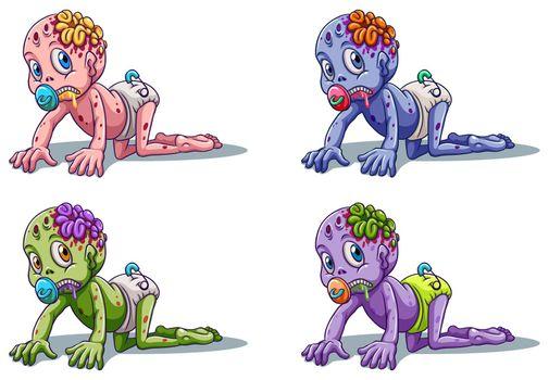 Scary zombie infants