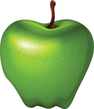 A crunchy green apple