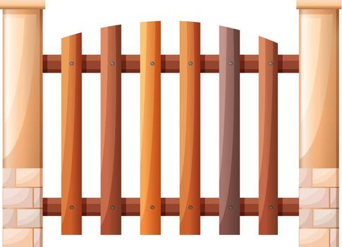A vertical fence