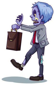An office worker zombie