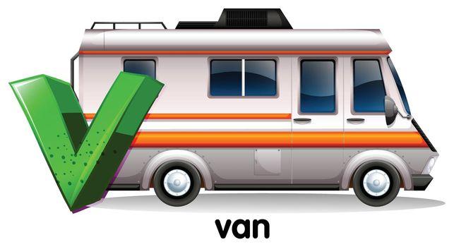 A letter V for van