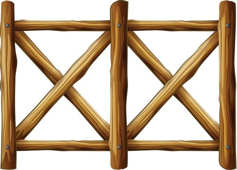 A wooden fence design