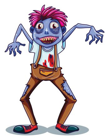 A scary zombie