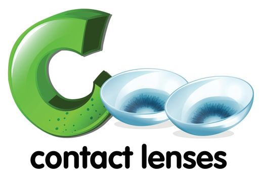 A letter C for contact lenses