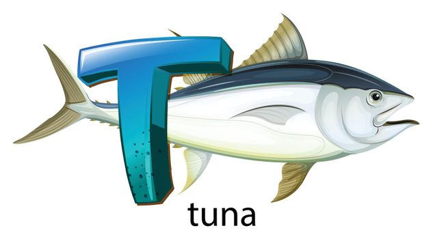 A letter T for tuna