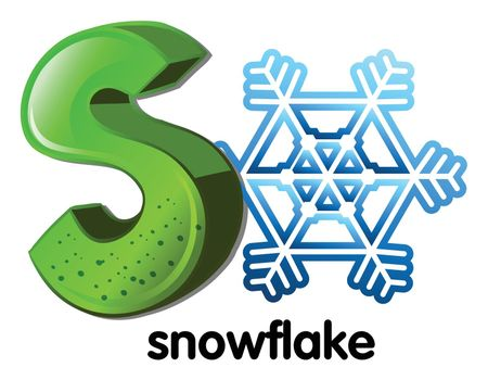 A letter S for snowflake
