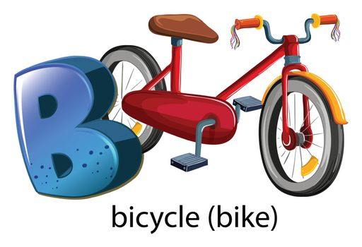 A letter B for bicycle
