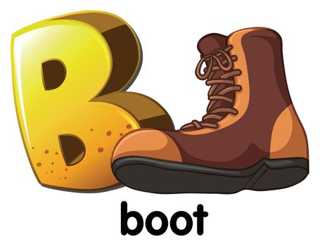 A letter B for boot