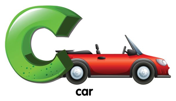 A letter C for car
