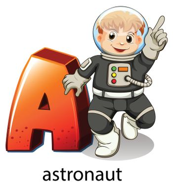 A letter A for astronaut