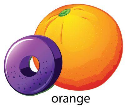 A letter O for orange