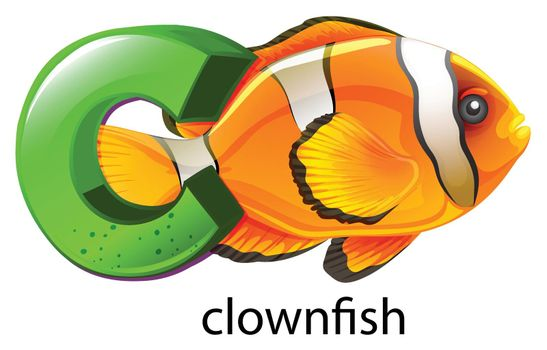 A letter C for clownfish