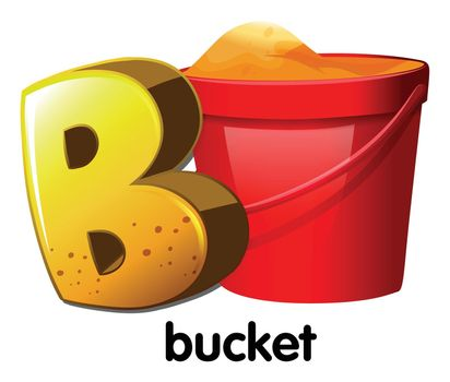 A letter B for bucket