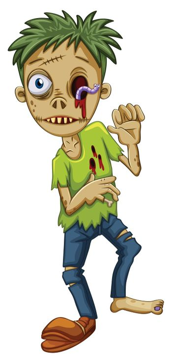 A young male zombie