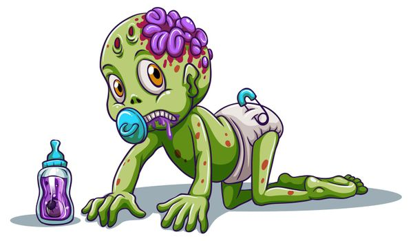 A baby zombie