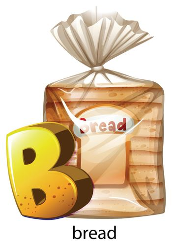 A letter B for bread