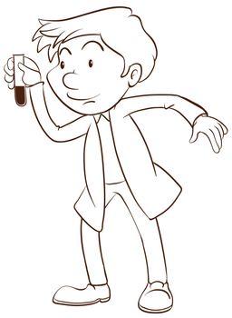 A plain sketch of a scientist