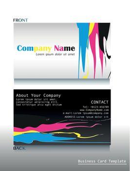A calling card artwork