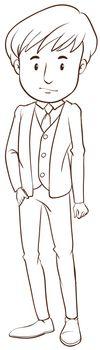 A boy in a formal attire