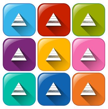 Buttons with triangular graphs