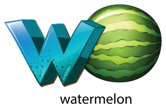 A letter W for watermelon