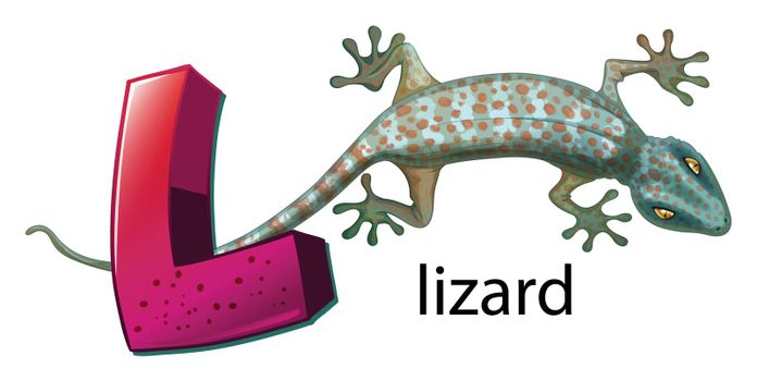 A letter L for lizard