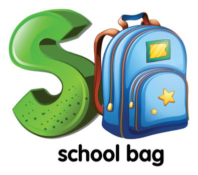 A letter S for school bag