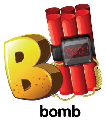 A letter B for bomb
