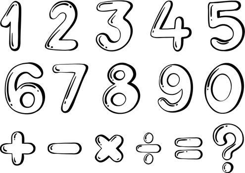 Different numerical figures