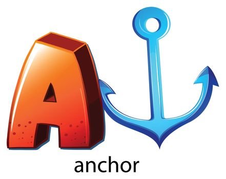 A letter A for anchor