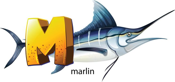 A letter M for marlin