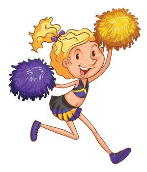 An energetic cheerleader