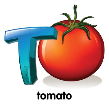A letter T for tomato