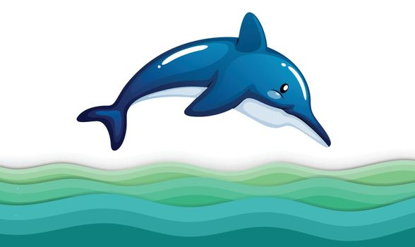A dolphin in the ocean