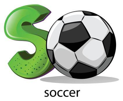 A letter S for soccer