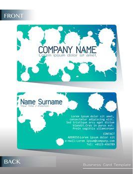 A calling card design