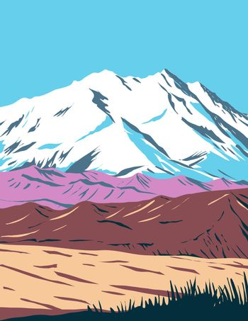 Denali National Park and Preserve formerly known as Mount McKinley National Park located in Interior Alaska WPA Poster Art