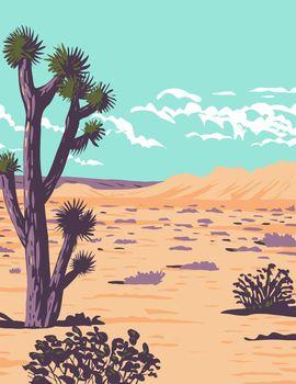 Joshua Tree in Tule Springs Fossil Beds National Monument near Las Vegas Clark County Nevada WPA Poster Art
