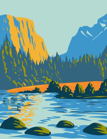 Voyageurs National Park Located in Northern Minnesota near the Canadian Border WPA Poster Art