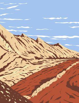 The Jurassic Navajo Sandstone in San Rafael Reef located in Glen Canyon National Recreation Area Utah WPA Poster Art