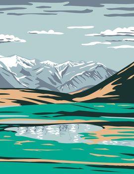 Brooks Range from near Galbraith Lake Located in the North Slope Borough of Alaska United States Wpa Poster Art