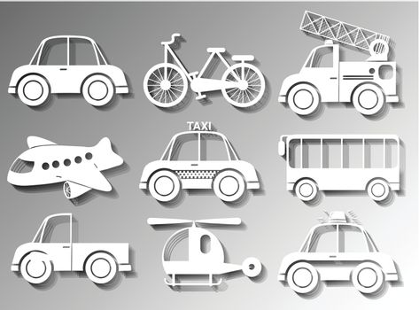 Different types of land and air transportation
